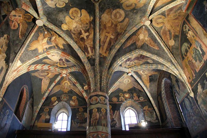 4 kościół świętej trójcy, aniołowie na sklepieniu